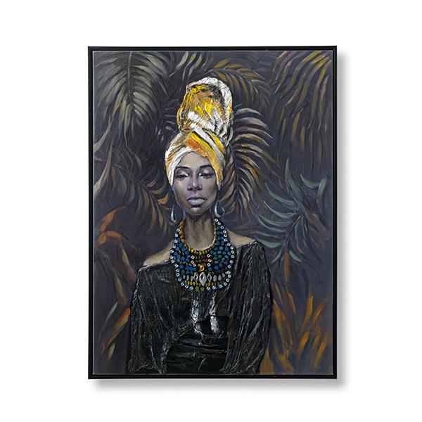 Aanbieding: Wanddeco African Lady