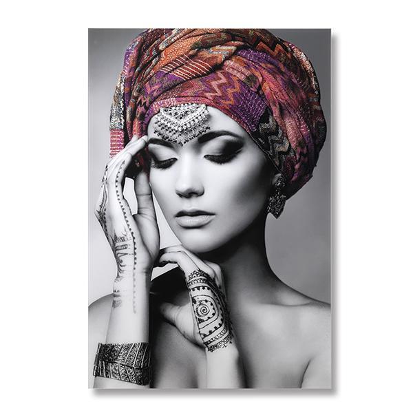 Aanbieding: Wanddeco vrouw met hoofddoek