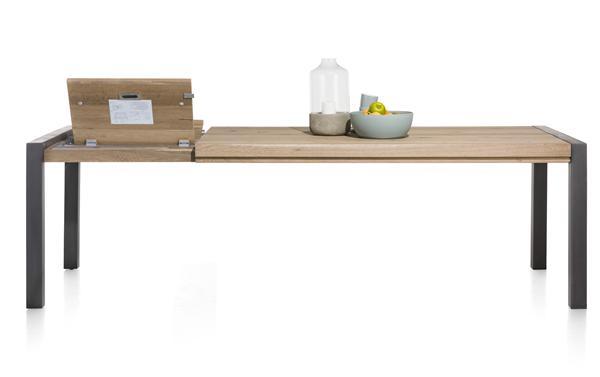 Brooklyn, uitschuiftafel 190 (+ 60 cm) x 100 cm - metalen u-poot
